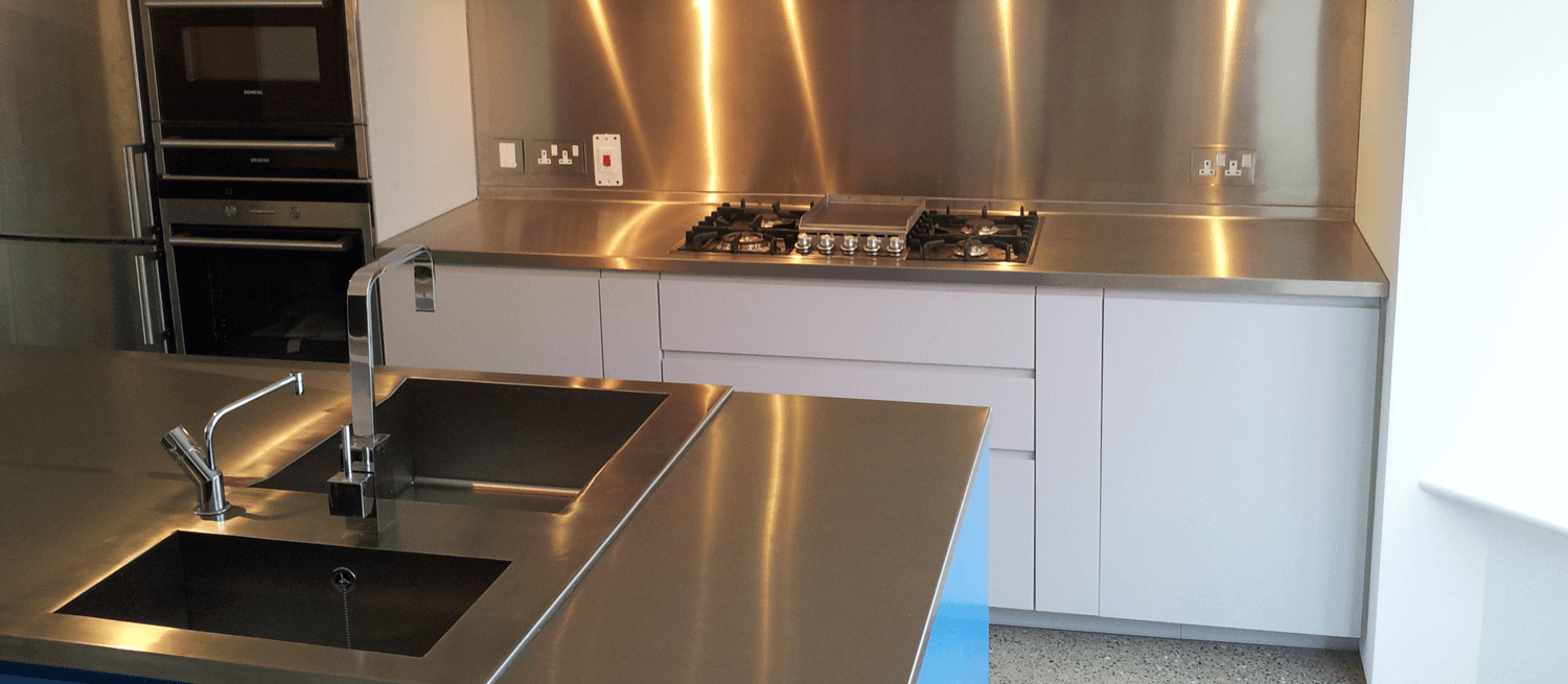 Stainless Steel Worktop at Home
